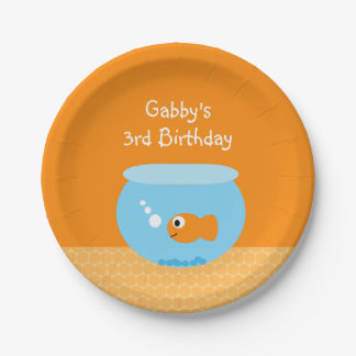 Goldfish Kids Birthday Party Paper Plates 7 Inch Paper Plate