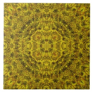 Goldweb Filigree Large Square Tile