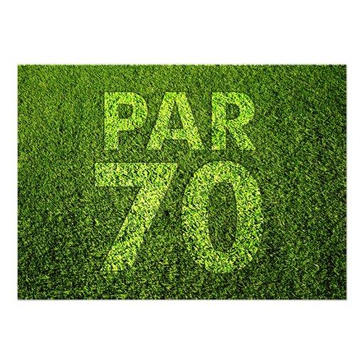 Golf 70th Birthday Party Custom Invitations