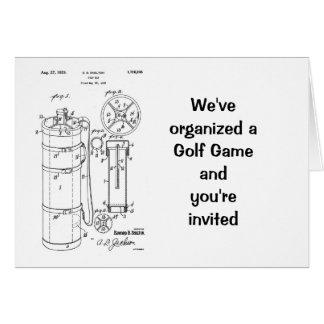 GOLF BAG PATENT 1929 - Greeting card