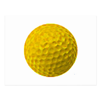 Golf Ball Gold The MUSEUM Zazzle Gifts Postcard