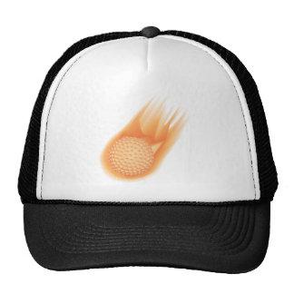 golf ball on fire hat