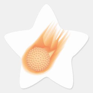 golf ball on fire star sticker