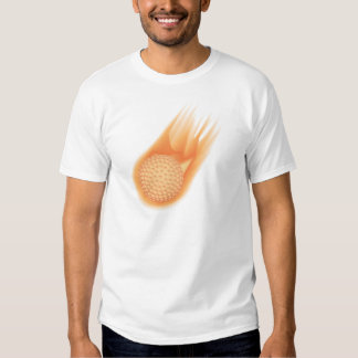 golf ball on fire t shirt