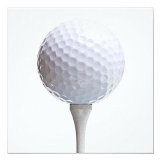 Golf Ball & Tee on White Customised Template