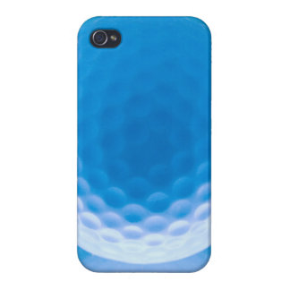 Golf Ball Texture Look Dimples Arctic Blue Case For iPhone 4