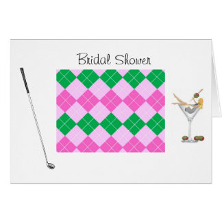 Golf Bridal Shower Greeting Card