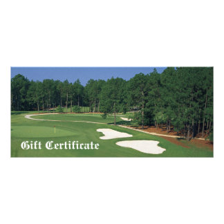 Golf Course Business Gift Certificate Personalised Rack Card