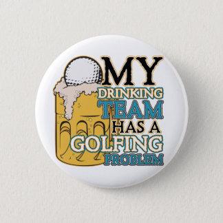 Golf Drinking Team 6 Cm Round Badge