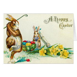 Golf Easter Card