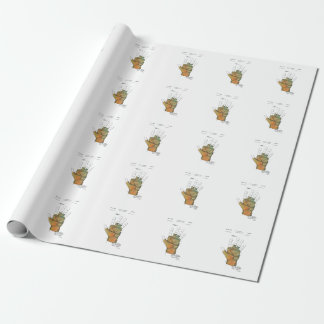 GOLF GLOVE PATENT - Wrapping Paper
