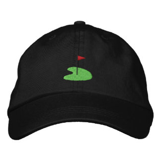 Golf Green with flag Embroidered Hat