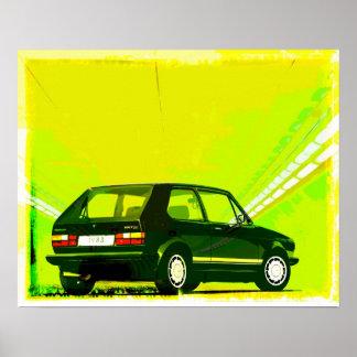 Golf GTi MkI Green Posters