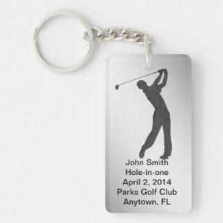 Golf Hole-in-one Commemoration Customizable Key Ring