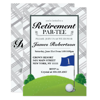 Retirement Party - Golf Retirement Party In