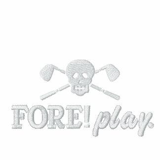 Golf Skull Bad Boys - Fore! Play - Golf Shirt Embroidered Polo Shirt
