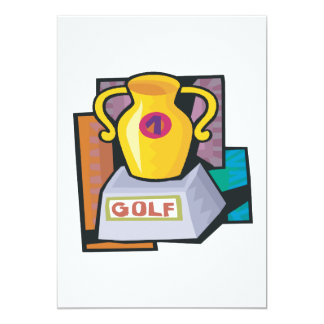 Golf Trophy 5x7 Paper Invitation Card