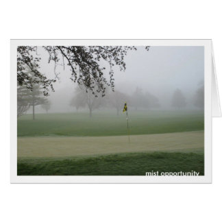 Golfers Mist Opportunity Notecard Note Card