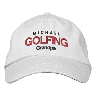 GOLFING GRANDPA Personalized Adjustable Hat V04 Baseball Cap