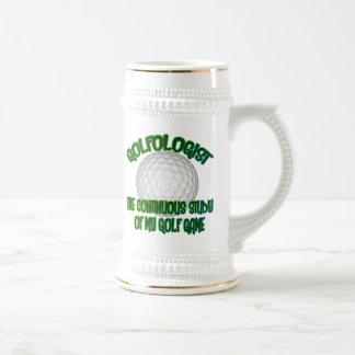 Golfologist Beer Stein