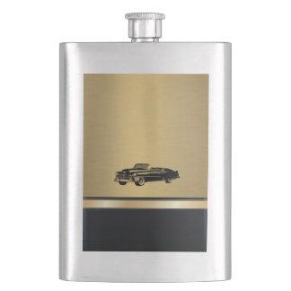 Golgen luxury classy retro old car No.1 Hip Flask