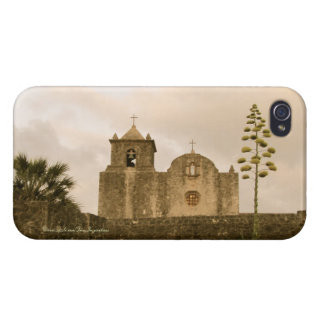 Goliad Texas Church-Vintage/sepia iPhone 4/4S Cases