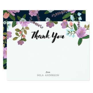 Golightly Floral Thank You Notes Card