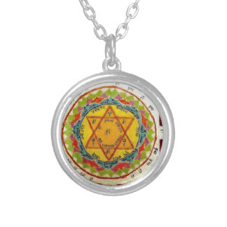 Goloka Yantra Silver Plated Necklace