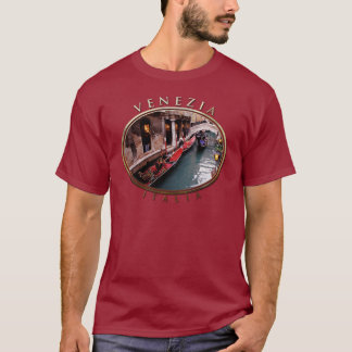 Gondolas On A Small Canal In Venice T-Shirt