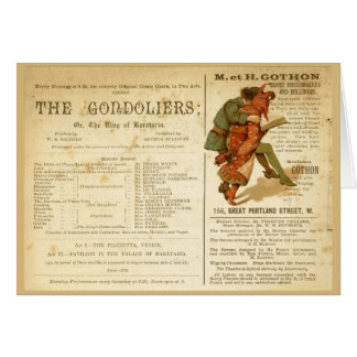 Gondoliers Cast Card