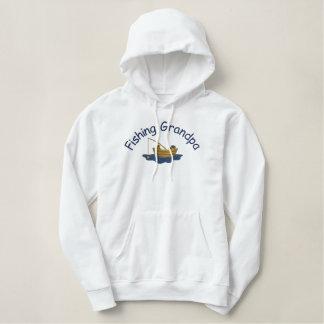 Gone Fishing Grandpa Embroidered Hoodie