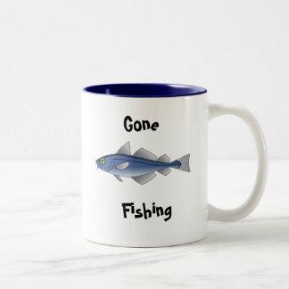 Gone Fishing Two-Tone Mug