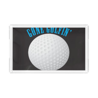 Gone Golfing Acrylic Tray