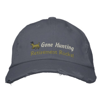Gone Hunting Embroidered Hat