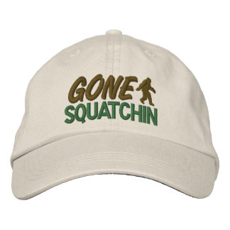 Gone Squatchin - Green & Brown Embroidered Hat