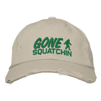 Gone Squatchin - Green Embroidered Hats