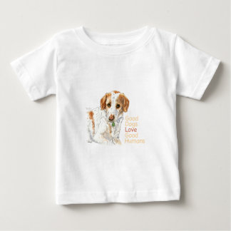 Good dogs love good humans watercolor baby T-Shirt