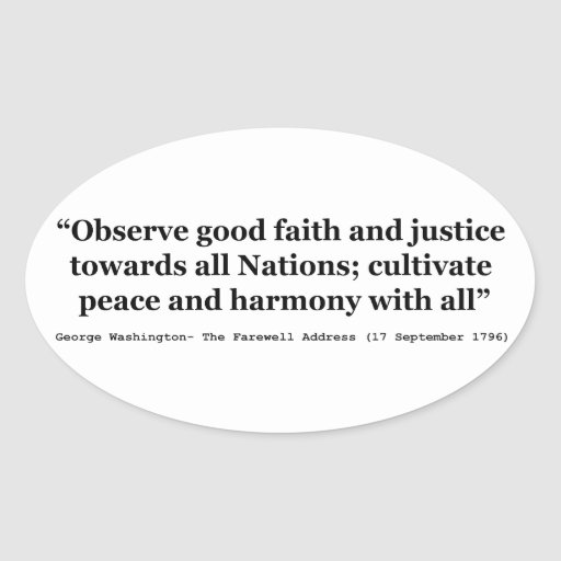 Good Faith and Justice Peace and Harmony Stickers