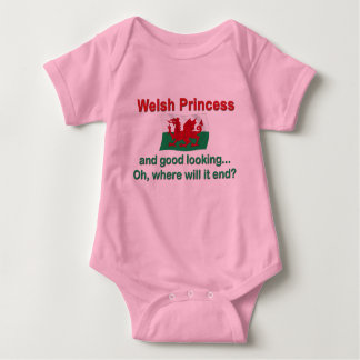 Good Lkg Welsh Princess Baby Bodysuit