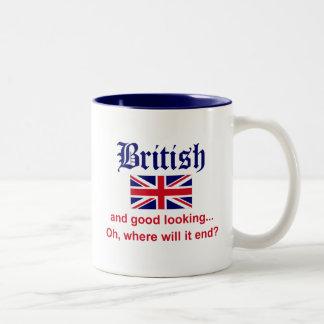 Good Looking British Two-Tone Coffee Mug