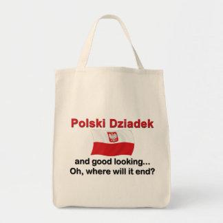 Good Looking Polski Dziadek (Grandfather) Tote Bags