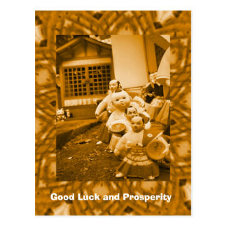 Good Luck and Prosperity, Musicians Postcard