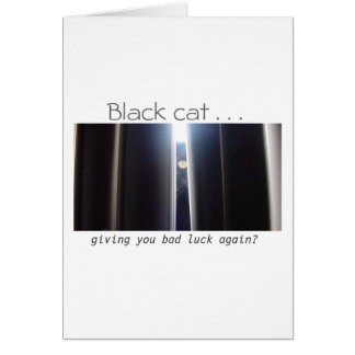 Good Luck!  (Black cat) Greeting Card