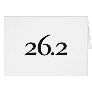 Good Luck Card for Marathoner - 26.2 Course
