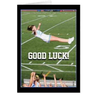 Good Luck Cheerleader greeting card
