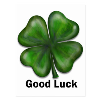 Good Luck Clover Postcard