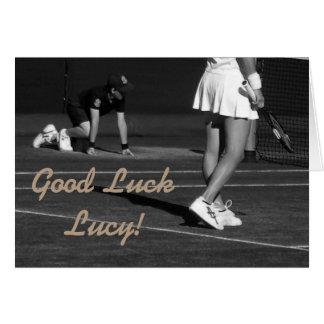 Good luck customisible tennis card