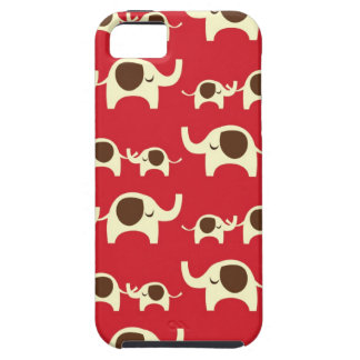 Good luck elephants cherry red cute nature pattern iPhone 5 case