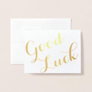 Good Luck Foil Card