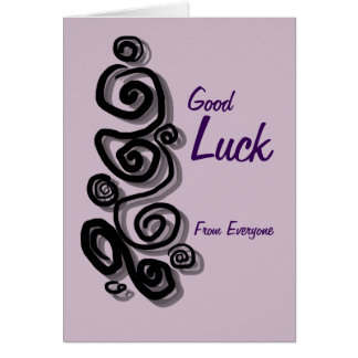 Good Luck from everyone add your message Swirls Card